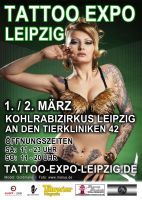Flyer: Tattoo Expo Leipzig 2014 by pa5haa