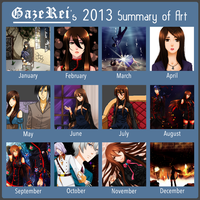 2013 Summary of Art of Reisy by GazeRei