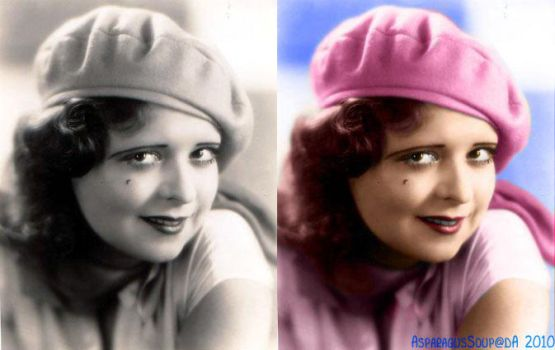 Bow colorization - 'Hat Girl' by AsparagusSoup