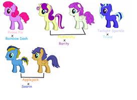 MLP FiM NG Mane 6 Foals by YummyCupcake436