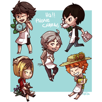Setter Florist Charms! by Eosi