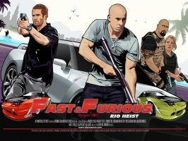 Fast and Furious 5 vector wall by akyanyme