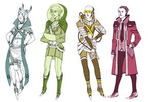 RADIANTS characters by ARISTOCREEP