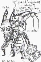 Shleik and Zella Quickie by DiabloZERO-GodofHell