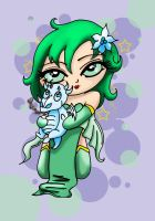 Chibi Rydia by Winged-warrior