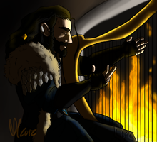 Angsty Harp playing by Skulleton