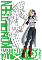 Koneighteen (Android 18 and Konan fusion) by JMBfanart