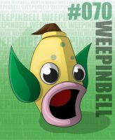 Pokemon: 070 Weepinbell by Xxid