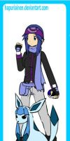 Tsuki as a Pokemon's trainer by Lexis-XIII