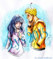 Watercolor Naruhina by Ly-s