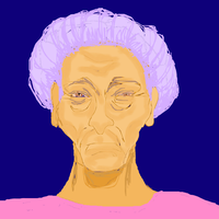 crabby old lady color by katiejo911