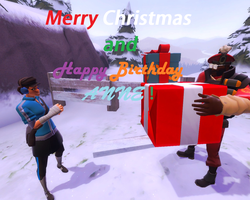 Merry Christmas and Happy Birthday, Anne! by spidermastermind100