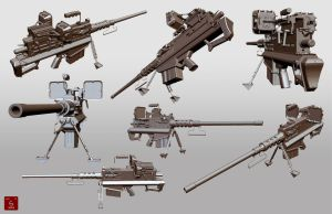 Combined 50 cal machine gun and sniper rifle by Je-huty