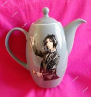 Hand painted Black Butler teapot by SimonaZ