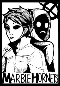Marble Hornets-Masky with Hoody by DeluCat