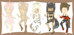 Adoptables: Kemonomimi Girls Set 1 OPEN by EtherealApricity