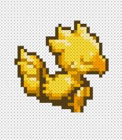 chocobo hama pattern by thelittlechibi