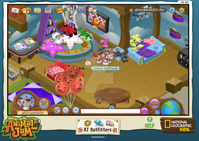 Screenshot of my den in Animal Jam by DubstepicDJ