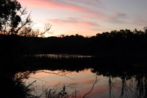 Sunset over Dunns Swamp by Jonothelad