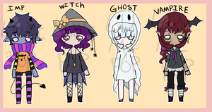Halloweeny Adopts 2/4 open by LumiPop