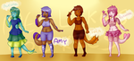 Merebabe Adoptables (3/4) OPEN by MegLikesCookies