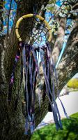 Retro colorful fabric dreamcatcher by Saahu98