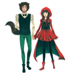 Wolf and Little red riding hood by 0hitomi0