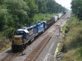CSX GP38-2's 2770 and 2730 by LDLAWRENCE
