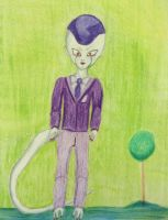 Freeza in suit (fourth form) by MinkisBaby