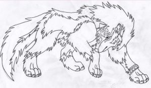 Wolf Link WIP Inked by DrawingMaster1