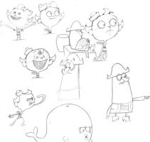 flapjack sketches by sirdrawsalot91