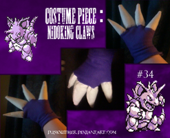 Nidoking Cosplay - Claws by Duskwither