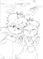 SM3DW ~ Puffy Cheeked Princesses by Son-Void