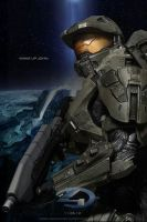Halo 4 Master Chief Photoshop Fan Art by rs2studios