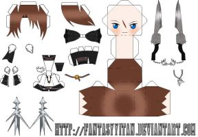 Squall Leonhart Papercraft 2 by FantasyYitan