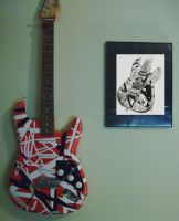 My Eddie Van Halen Frankenstein replica guitar! by lryvan