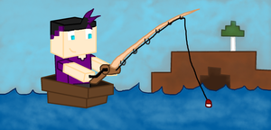 Minecraft: Fishing by panthiscan1