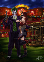 The Joker and Harley Quinn by 4steex