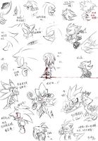 Sonic doodle by amberday