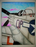 P-51 Drawing by BaronGirl