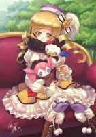 mami and CHARLOTTE by swdd-cat