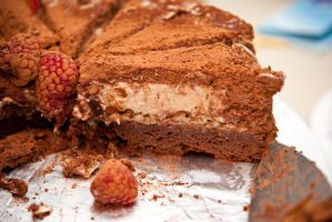 chocolate banana mousse cake by yujai