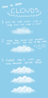 How to draw simple clouds by Echodus