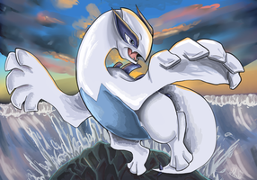 wow much blue such Lugia by Muketti