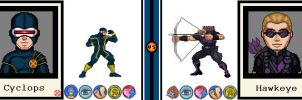 AvsX - Cyclops vs. Hawkeye by GEEKINELL