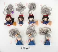 Kiki and Sophie necklaces by elvira-creations
