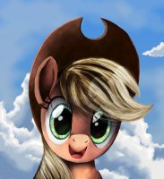 Applejack Portrait by Tails1000
