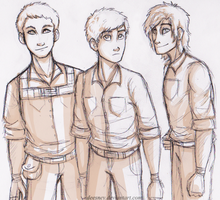 Minho, Thomas and Newt by Deesney