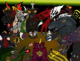 The Godzilla Kaiju Villain Bar by SaintNick14