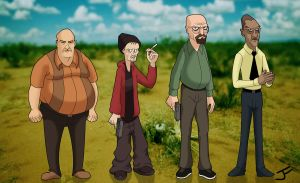 Breaking Bad Character Designs by Purge042